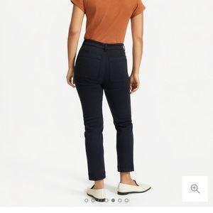 Everlane navy slim leg crop pant short